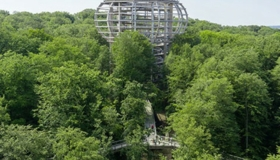 The Treetop Walkway on an Island in the Baltic Sea